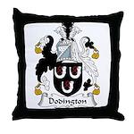 Dodington Family Crest  Throw Pillow
