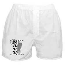 I Support Niece 2 - NAVY Boxer Shorts