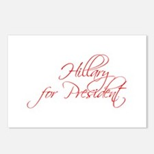 Hillary for President-Scr red 440 Postcards (Packa