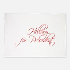 Hillary for President-Scr red 440 5'x7'Area Rug