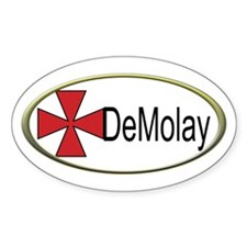 DeMolay Oval Decal