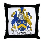 Dobyns Family Crest Throw Pillow