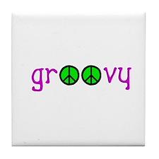 Groovy Peace Tile Coaster