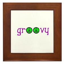 Groovy Peace Framed Tile