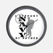I Support Mother 2 - NAVY Wall Clock