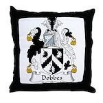 Dobbes Family Crest  Throw Pillow