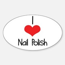 Nail Polish Oval Decal