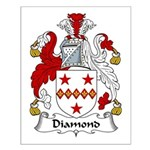 Diamond Family Crest Small Poster