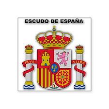 "Cute Madrid Square Sticker 3"" x 3"""