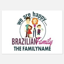 Personalized Happy Brazilian Family Invitations