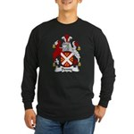 Denny Family Crest Long Sleeve Dark T-Shirt