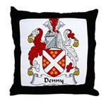 Denny Family Crest  Throw Pillow