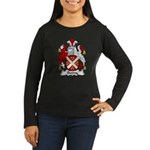 Denny Family Crest  Women's Long Sleeve Dark T-Shi
