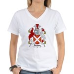 Denny Family Crest  Women's V-Neck T-Shirt