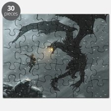 Warrior Fighting Dragon Puzzle