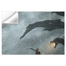 Warrior Fighting Dragon Wall Decal