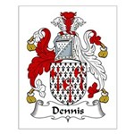 Dennis Family Crest Small Poster