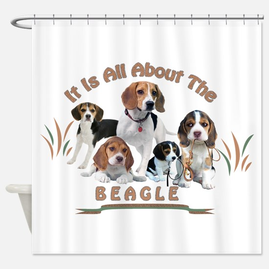 All About The Beagle Shower Curtain