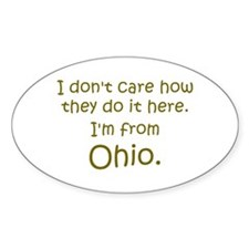 From Ohio Oval Decal