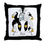 Den Family Crest Throw Pillow