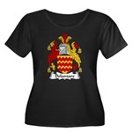 Delamare Family Crest  Women's Plus Size Scoop Nec