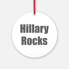 Hillary Rocks-Imp gray 400 Ornament (Round)