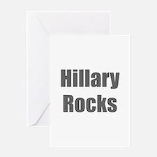 Hillary Rocks-Imp gray 400 Greeting Cards