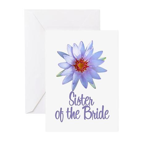 Lotus Bride's Sister Greeting Cards (Pk of 10)