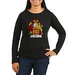 Dee Family Crest Women's Long Sleeve Dark T-Shirt