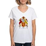 Dee Family Crest Women's V-Neck T-Shirt