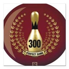 "BOWLING.  300 GAME.  PER Square Car Magnet 3"" x 3"""