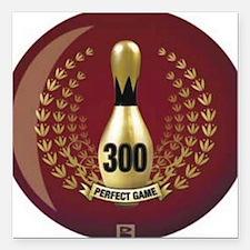 "BOWLING.  300 GAME.  PER Square Car Magnet 3"" x 3"""
