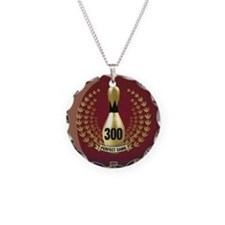 BOWLING.  300 GAME.  PERFECT Necklace Circle Charm
