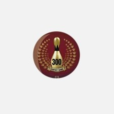 BOWLING.  300 GAME.  PERFECT GAME Mini Button