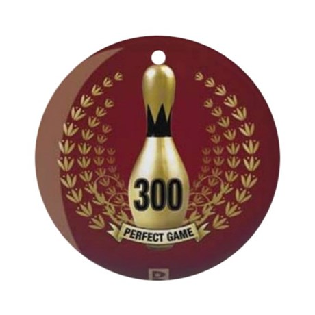 BOWLING 300 GAME PERFECT GAME Round Ornament By Listing