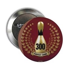 """BOWLING.  300 GAME.  PERFECT GAME 2.25"""" Button"""