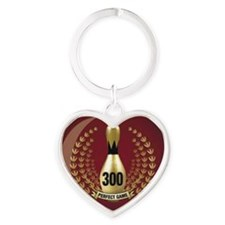 BOWLING.  300 GAME.  PERFECT GAME Heart Keychain