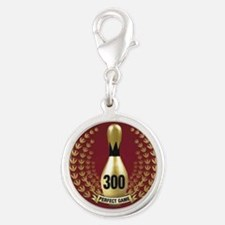BOWLING.  300 GAME.  PERFECT G Silver Round Charm