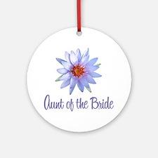 Lotus Bride's Aunt Ornament (Round)
