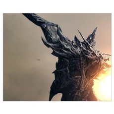 Dragon Spitting Fire Poster