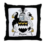 Deane Family Crest Throw Pillow