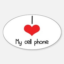 My Cell Phone Oval Decal