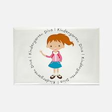Cute Girl Kindergarten Diva Rectangle Magnet