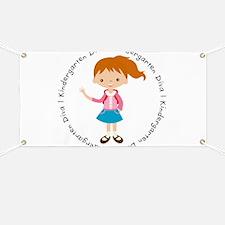 Cute Girl Kindergarten Diva Banner