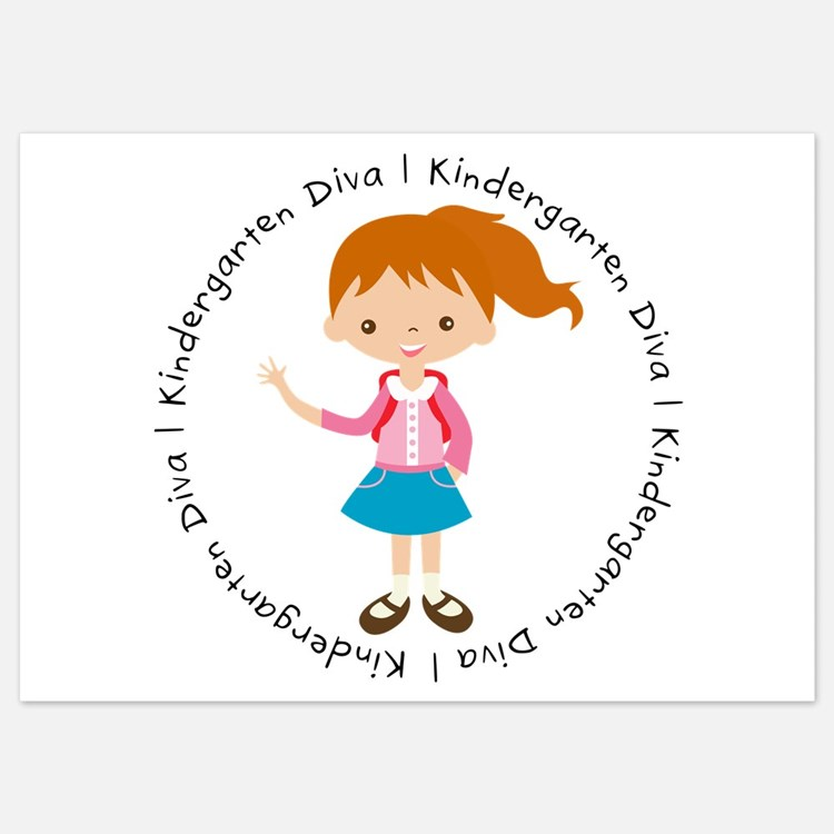 Cute Girl Kindergarten Diva Invitations