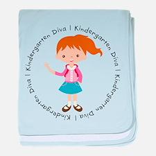 Cute Girl Kindergarten Diva baby blanket