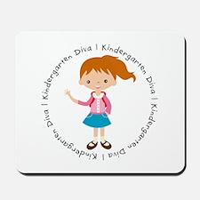 Cute Girl Kindergarten Diva Mousepad