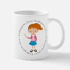Cute Girl Kindergarten Diva Small Mugs