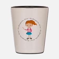 Cute Girl Kindergarten Diva Shot Glass