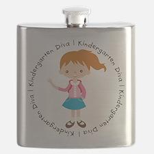 Cute Girl Kindergarten Diva Flask